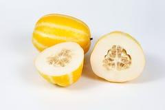 Pequeño melón amarillo dulce Imagenes de archivo