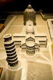 Pequeño modelo de The Field de milagros, Pisa Foto de archivo