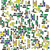 Pequeño modelo de los cuadrados Imagen de archivo