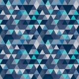 Pequeño modelo inconsútil coloreado de los triángulos ilustración del vector