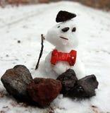 Pequeño muñeco de nieve fotografía de archivo