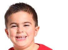 Pequeño muchacho caucásico feliz Fotos de archivo