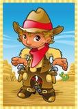 Pequeño muchacho de la vaca stock de ilustración