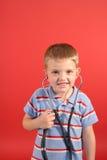 Pequeño muchacho del doctor Foto de archivo libre de regalías