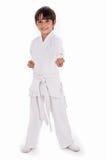 Pequeño muchacho del karate en el entrenamiento Fotografía de archivo libre de regalías