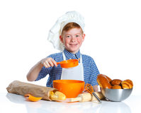 Pequeño muchacho del panadero foto de archivo