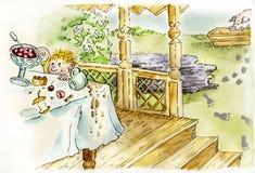 Pequeño muchacho desaliñado lindo libre illustration