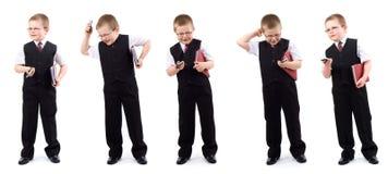 Pequeño muchacho-hombre de negocios - conjunto Foto de archivo libre de regalías