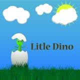 Pequeño nacimiento del dinosaurio libre illustration