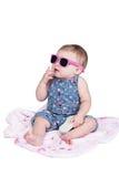 Pequeño niño con las gafas de sol Fotografía de archivo