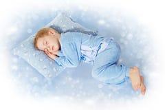 Pequeño niño durmiente Imágenes de archivo libres de regalías