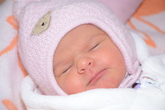 Pequeño niño durmiente Imagen de archivo libre de regalías