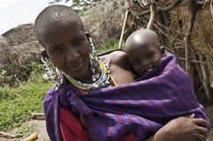 Pequeño niño en África Fotos de archivo libres de regalías