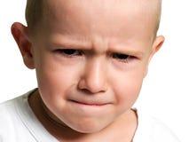 Pequeño niño en tristeza Foto de archivo libre de regalías