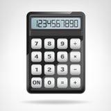 Pequeño objeto negro redondo de la calculadora aislado Foto de archivo libre de regalías