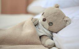 Pequeño oso de peluche precioso Fotografía de archivo