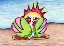 Pequeño pájaro tímido Imagen de archivo libre de regalías
