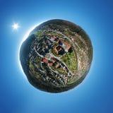 pequeño panorama del planeta del castillo hermoso del agua en Glatt Alemania imagenes de archivo