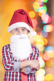 Pequeño Papá Noel lindo Fotos de archivo libres de regalías