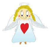 Pequeño pequeño ángel, vector Fotografía de archivo