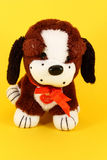 Pequeño perro colorido de la felpa Imagen de archivo libre de regalías