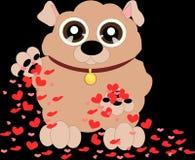 Pequeño perro lindo 4 de la historieta libre illustration