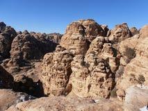 Pequeño Petra nevado Fotografía de archivo