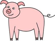 Pequeño piggie divertido del animal del campo de cerdo stock de ilustración