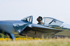 Pequeño piloto plano Foto de archivo libre de regalías