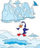 Pequeño pingüino ilustración del vector