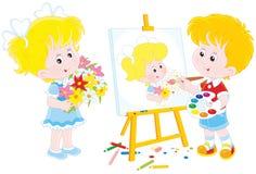 Pequeño pintor libre illustration