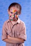 Pequeño pintor manchado Foto de archivo libre de regalías