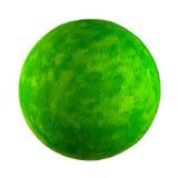 Pequeño planeta verde del juguete Foto de archivo