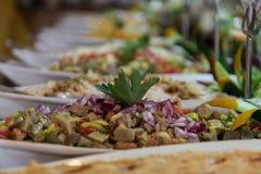 Pequeño plato turco del arrancador servido Fotos de archivo