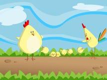 Pequeño pollo stock de ilustración