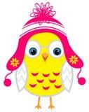 Pequeño pollo amarillo lindo del bebé de la historieta aislado en una parte posterior del blanco Fotos de archivo libres de regalías