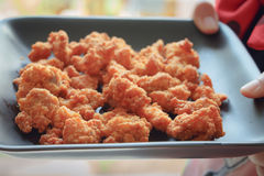 Pequeño pollo frito Foto de archivo libre de regalías