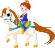 Pequeño príncipe en caballo stock de ilustración