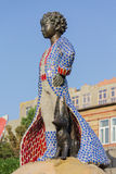 Pequeño príncipe y su escultura del zorro en el parque de los niños kiev Imagen de archivo libre de regalías