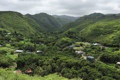Pequeño pueblo de Maui Fotografía de archivo libre de regalías