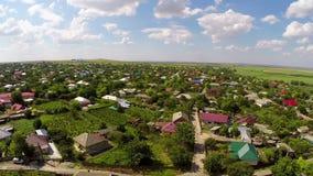 Pequeño pueblo en Rumania almacen de metraje de vídeo