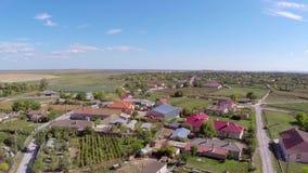 Pequeño pueblo en Rumania almacen de video