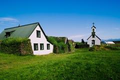 Pequeño pueblo islandés Imágenes de archivo libres de regalías