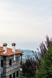 Pequeño pueblo, montaña de Olympus, Grecia Fotos de archivo libres de regalías