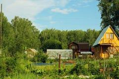 Pequeño pueblo ruso Foto de archivo libre de regalías