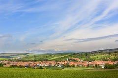 Pequeño pueblo Sardice en Moravia del sur foto de archivo