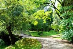 Pequeño puente en parque Foto de archivo libre de regalías