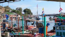 Pequeño puerto cerca de Hua Hin, Tailandia Imagen de archivo
