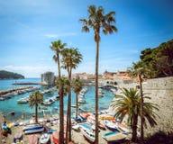 Pequeño puerto de Dubrovnik Imagen de archivo