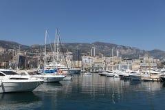 Pequeño puerto de Mónaco Fotos de archivo